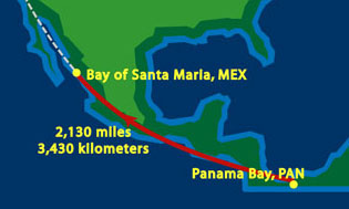 Panama to Mexico