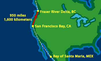 San Francisco to Fraser River